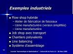 exemples industriels