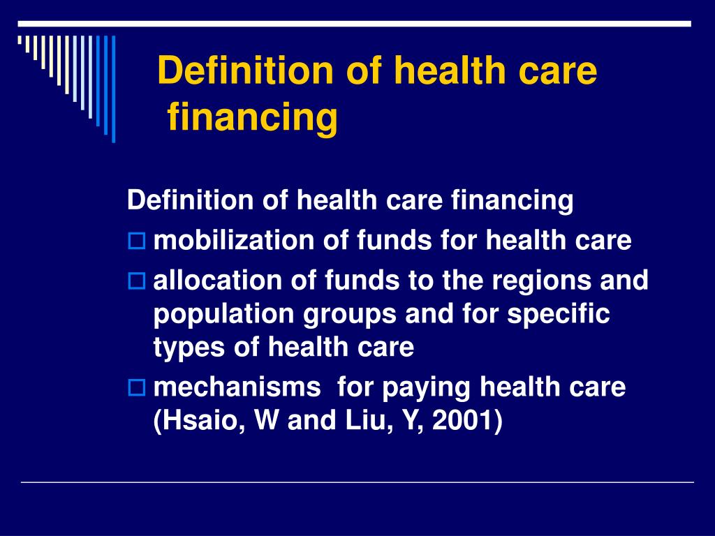 Definition of health care
