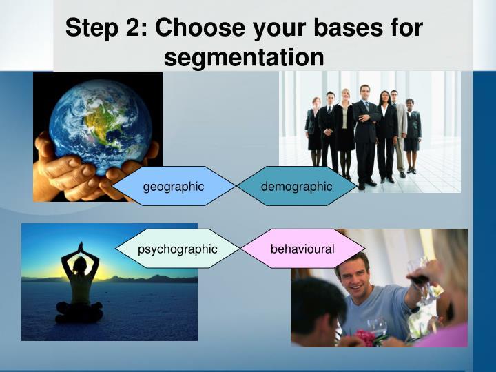 Step 2: Choose your bases for segmentation