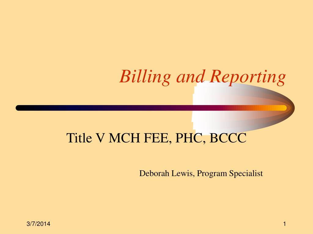 billing and reporting l.