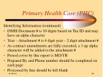 primary health care phc30