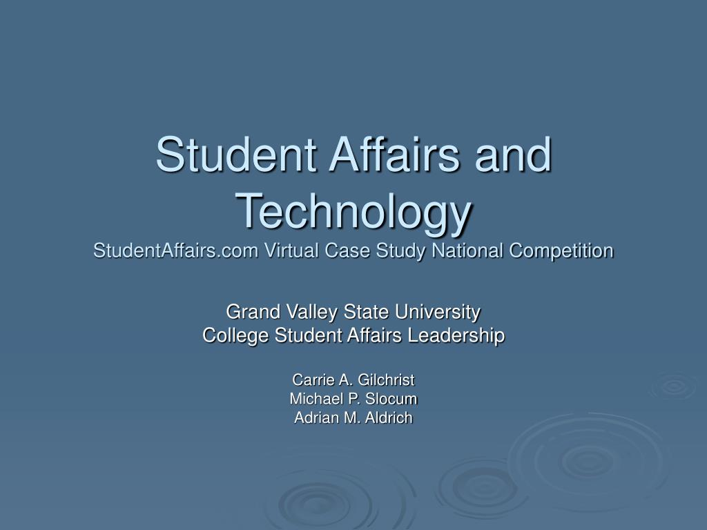 student affairs and technology studentaffairs com virtual case study national competition l.