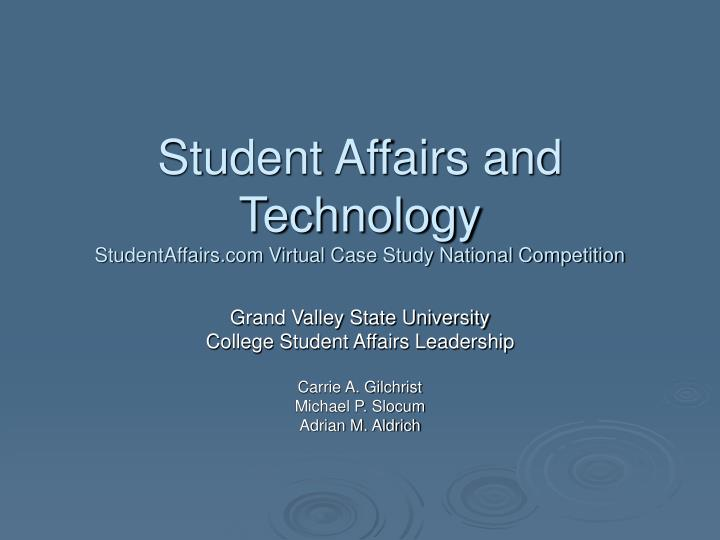 student affairs and technology studentaffairs com virtual case study national competition n.