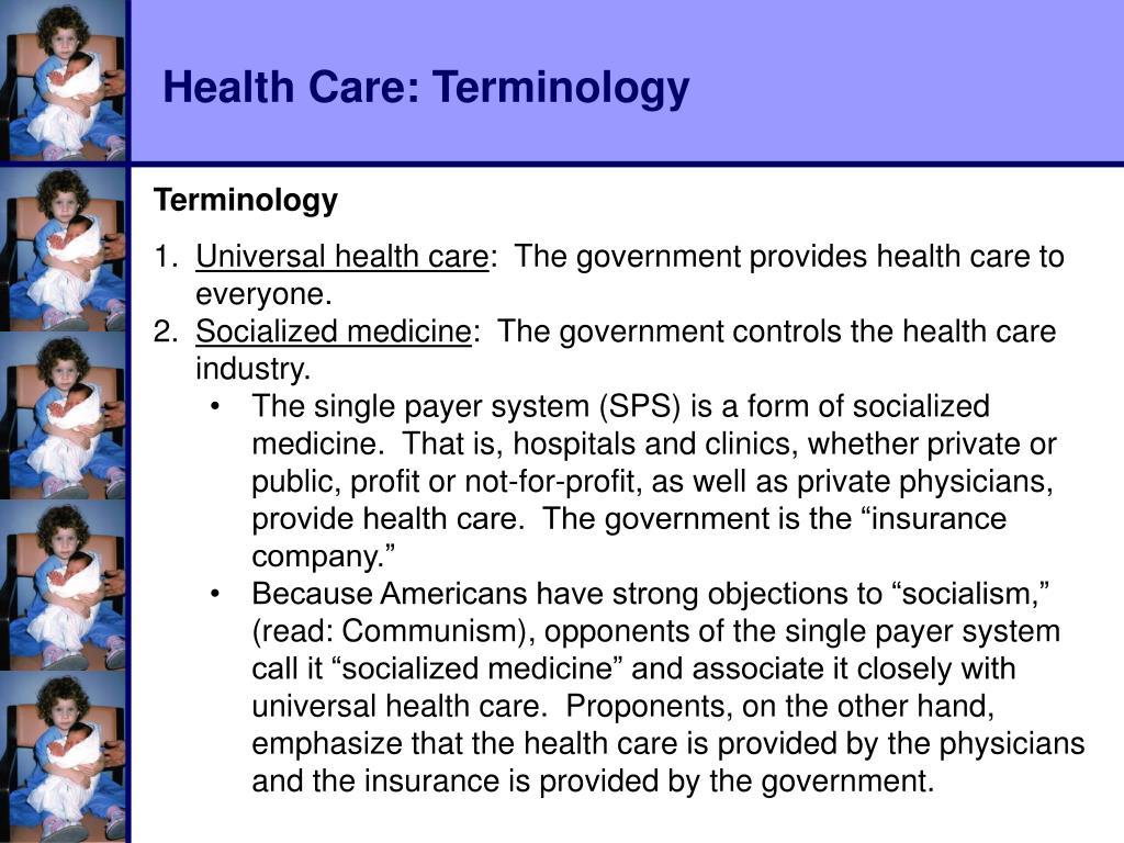 Health Care: Terminology