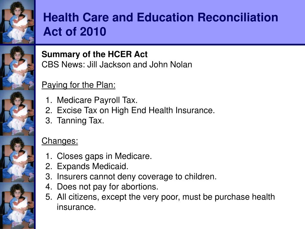 Health Care and Education Reconciliation
