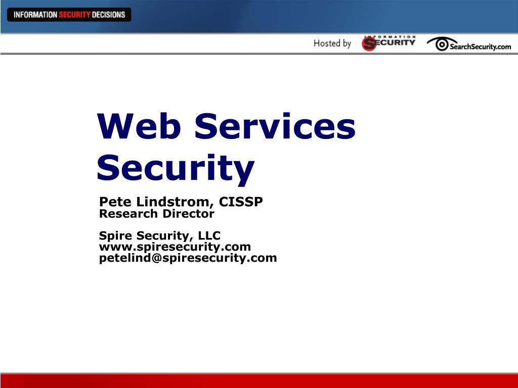 web services security l.