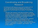 coordinating and broadening research45