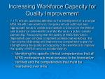 increasing workforce capacity for quality improvement