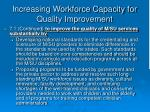 increasing workforce capacity for quality improvement35
