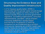 structuring the evidence base and quality improvement infrastructure15