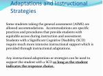 adaptations and instructional strategies