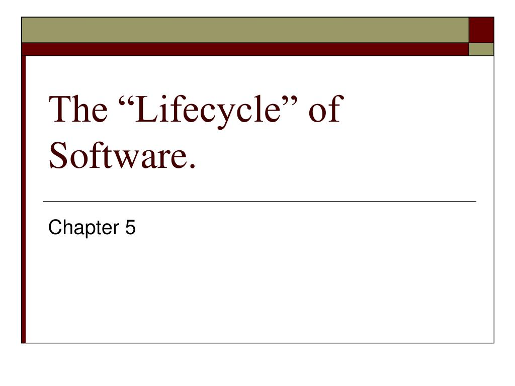 the lifecycle of software l.