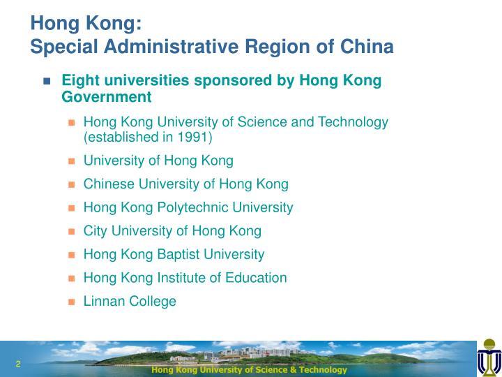 Hong kong special administrative region of china