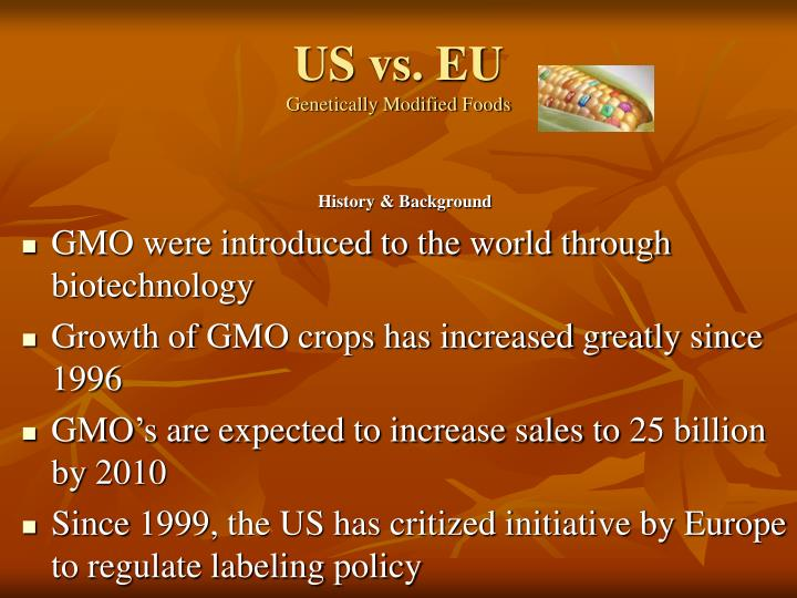 genetically modified food speech B: poor people from third world nations have no money to buy gm foodsconclusion genetically modified food cause potential risk and harm on human's health and environment, moreover, it brings the impact on global economy, for these reasons, gm food should be banned.