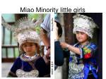 miao minority little girls