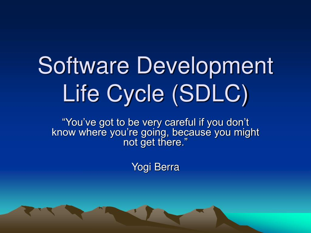 software development life cycle sdlc l.