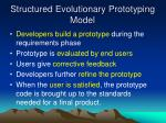 structured evolutionary prototyping model