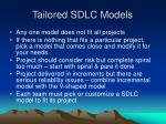 tailored sdlc models