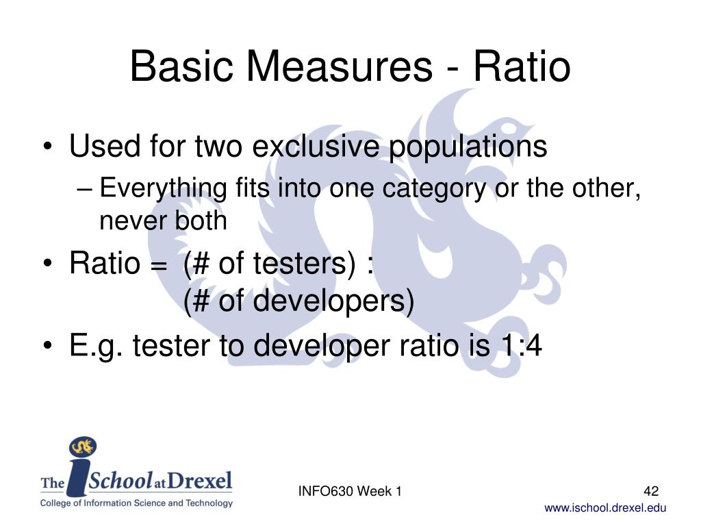 Basic Measures - Ratio