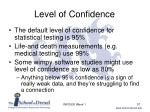 level of confidence57