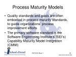 process maturity models