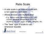 ratio scale