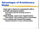 advantages of evolutionary model