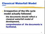 classical waterfall model cont38