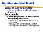 iterative waterfall model cont36