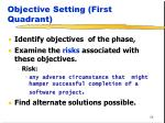 objective setting first quadrant