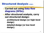 structured analysis cont