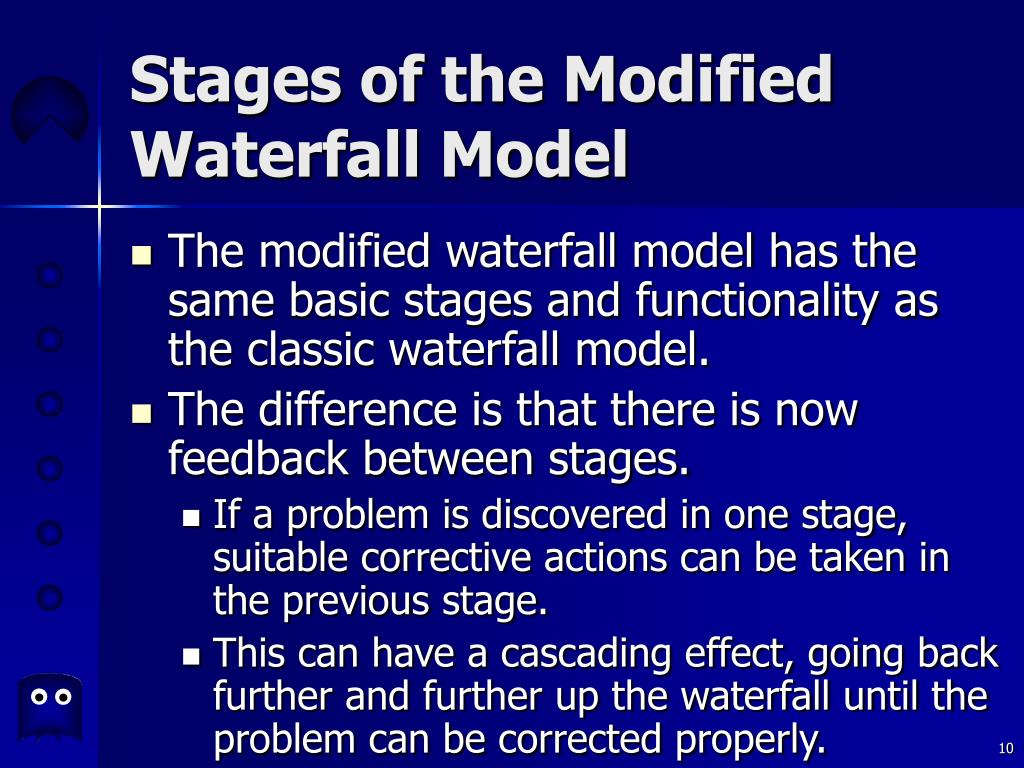 Stages of the Modified Waterfall Model