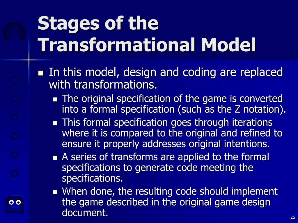 Stages of the Transformational Model