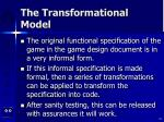 the transformational model25