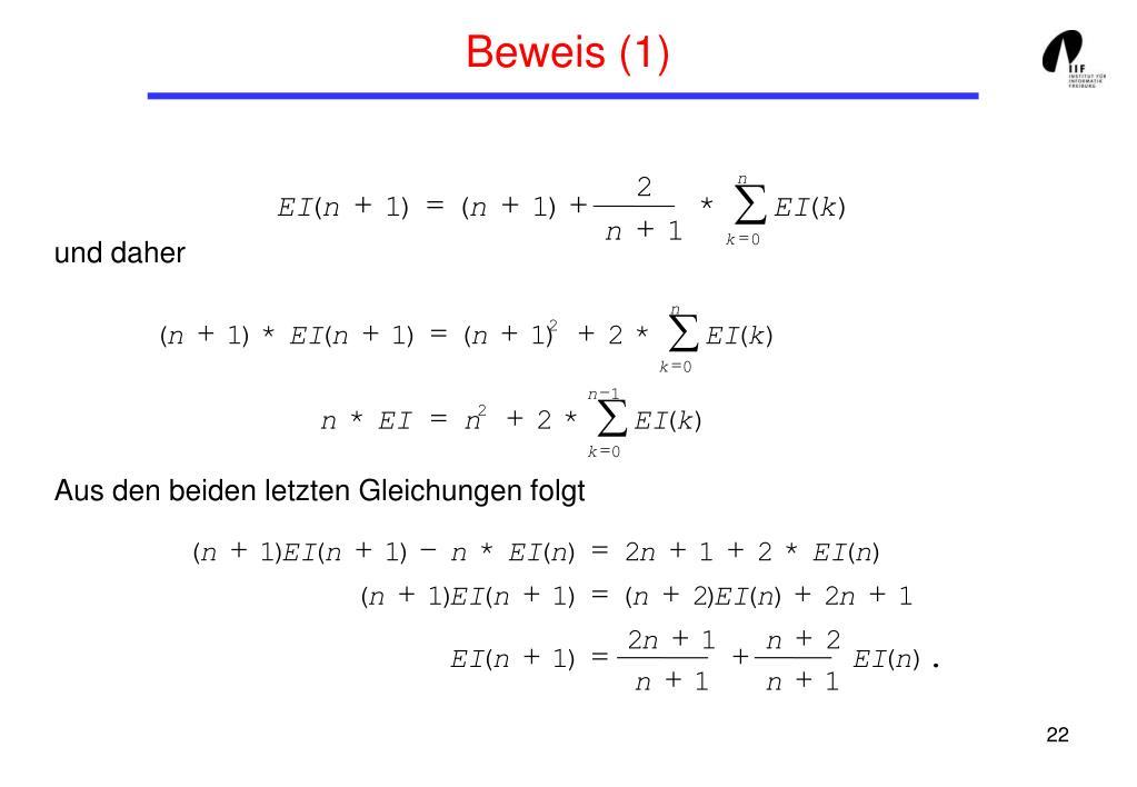 Beweis (1)