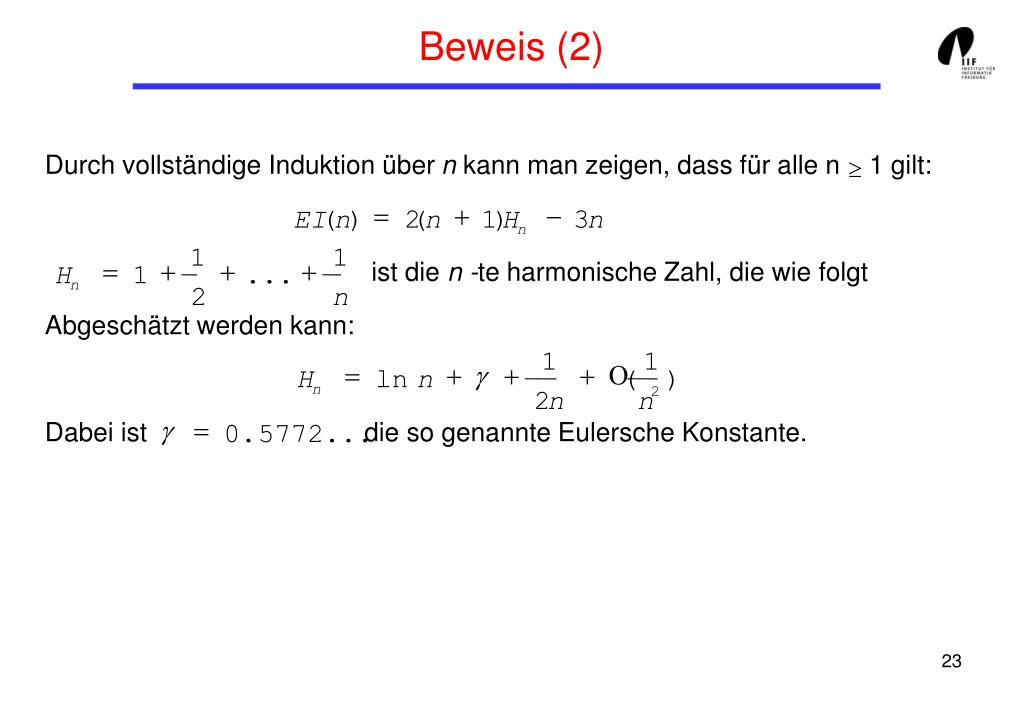 Beweis (2)