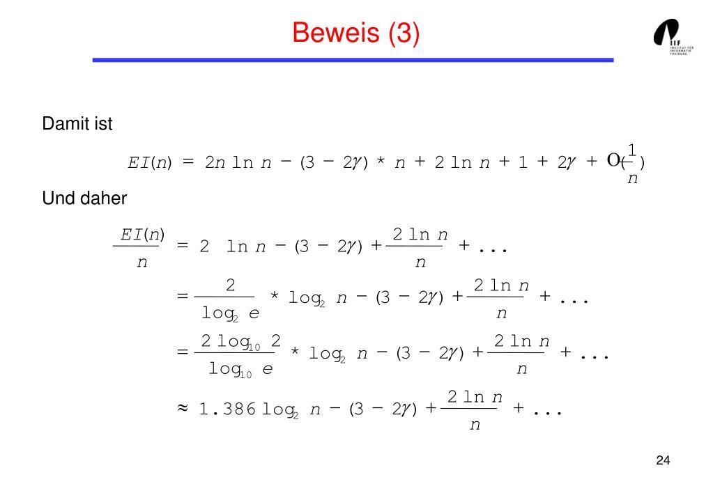 Beweis (3)