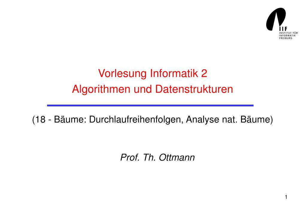 Vorlesung Informatik 2