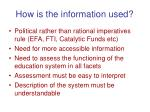 how is the information used