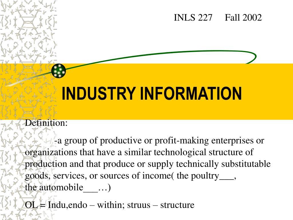 industry information l.