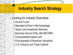 industry search strategy11