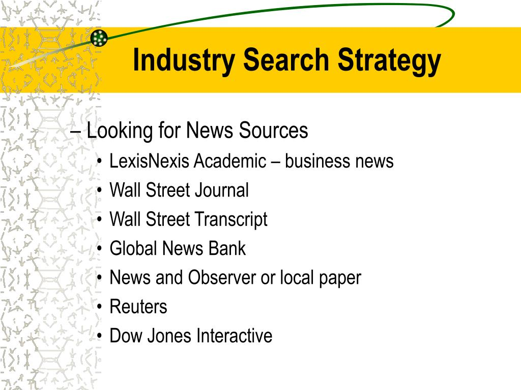 Industry Search Strategy