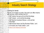 industry search strategy16
