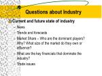 questions about industry6
