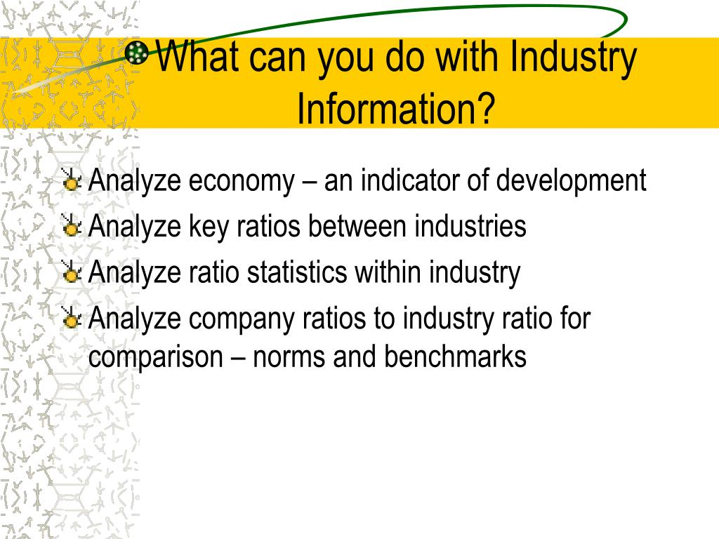 What can you do with Industry Information?