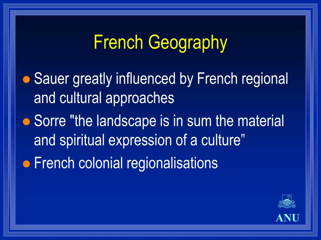 French Geography