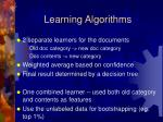 learning algorithms