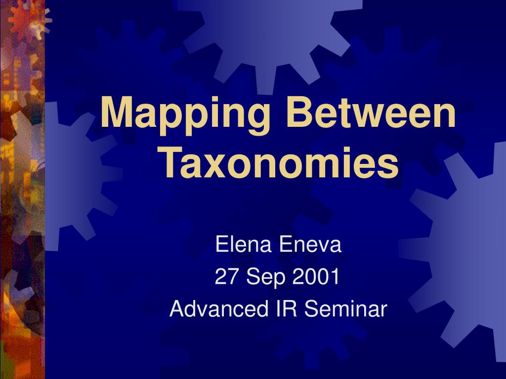mapping between taxonomies l.