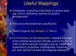 useful mappings