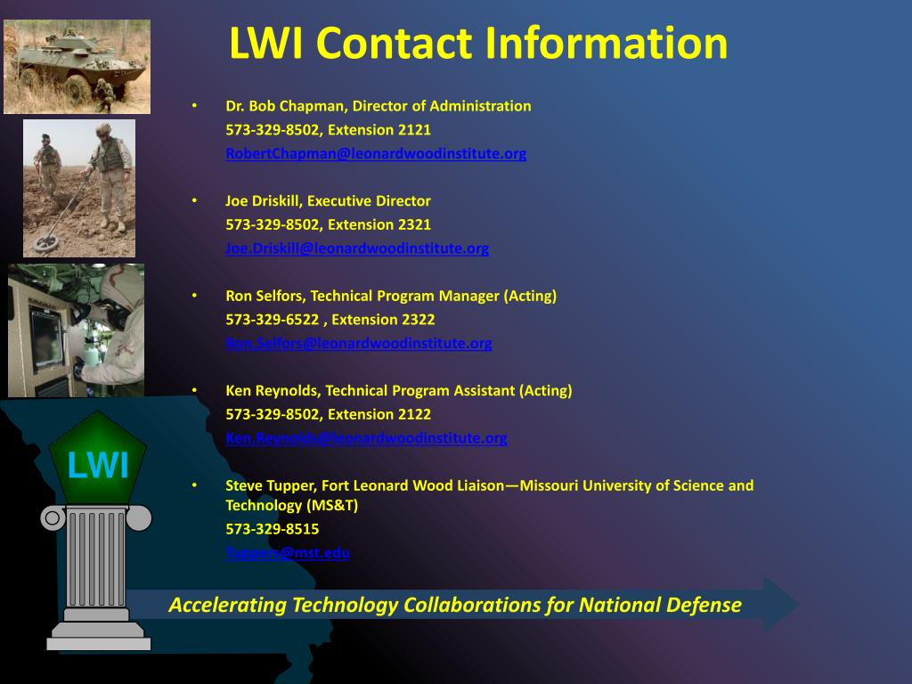 LWI Contact Information